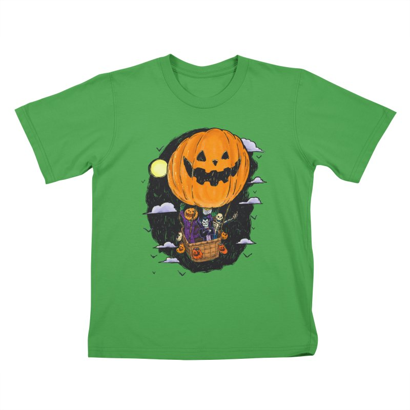Pumpkin Hot Air Balloon Kids T-Shirt by nickv47