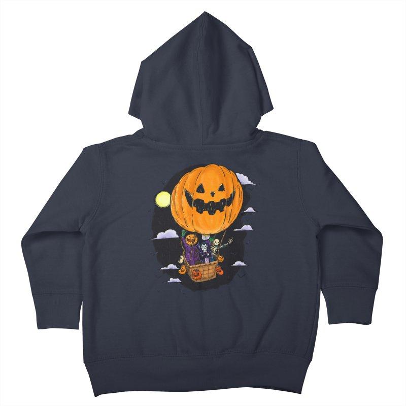 Pumpkin Hot Air Balloon Kids Toddler Zip-Up Hoody by nickv47