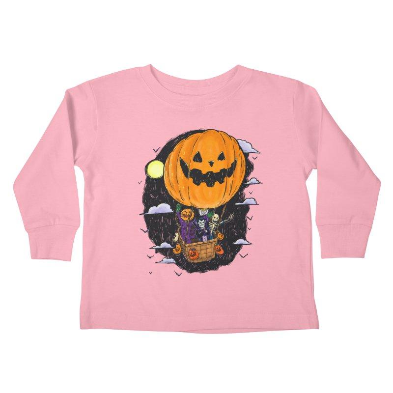 Pumpkin Hot Air Balloon Kids Toddler Longsleeve T-Shirt by nickv47
