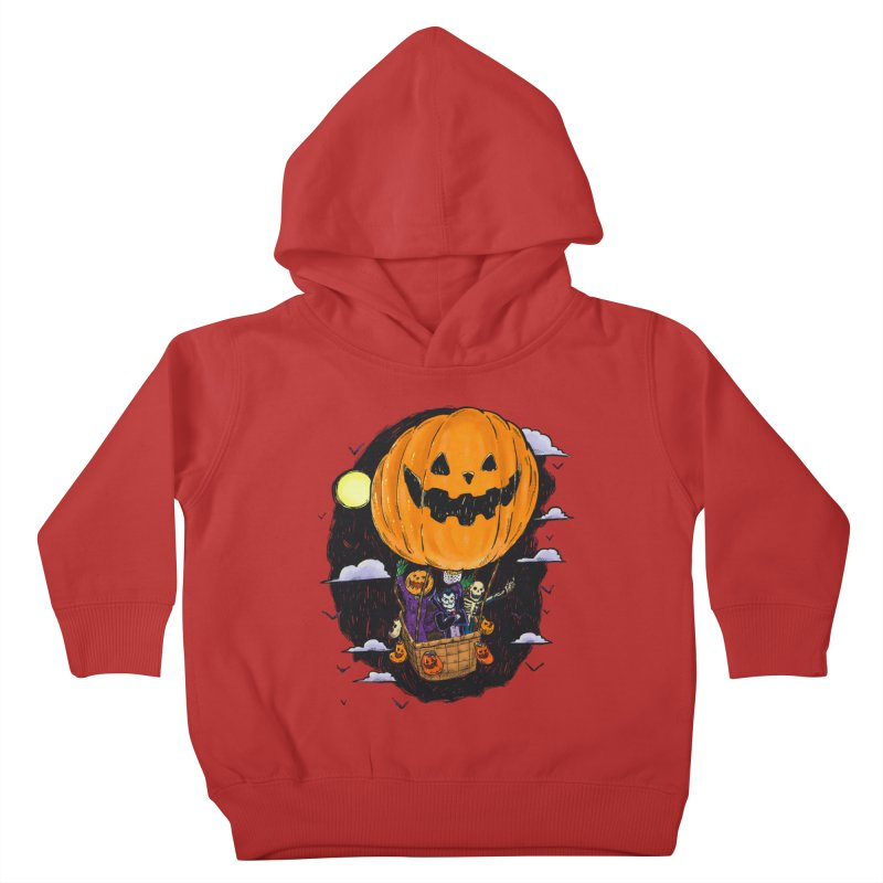 Pumpkin Hot Air Balloon Kids Toddler Pullover Hoody by nickv47