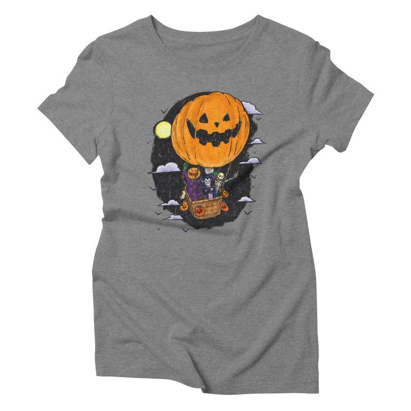Pumpkin Hot Air Balloon Women's Triblend T-Shirt by nickv47
