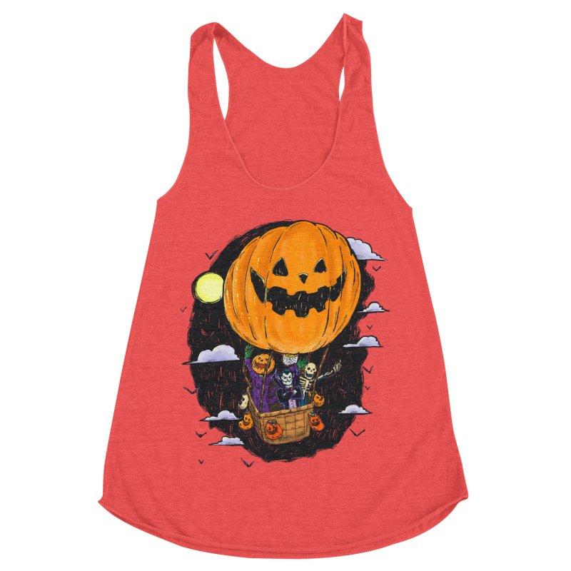 Pumpkin Hot Air Balloon Women's Tank by nickv47