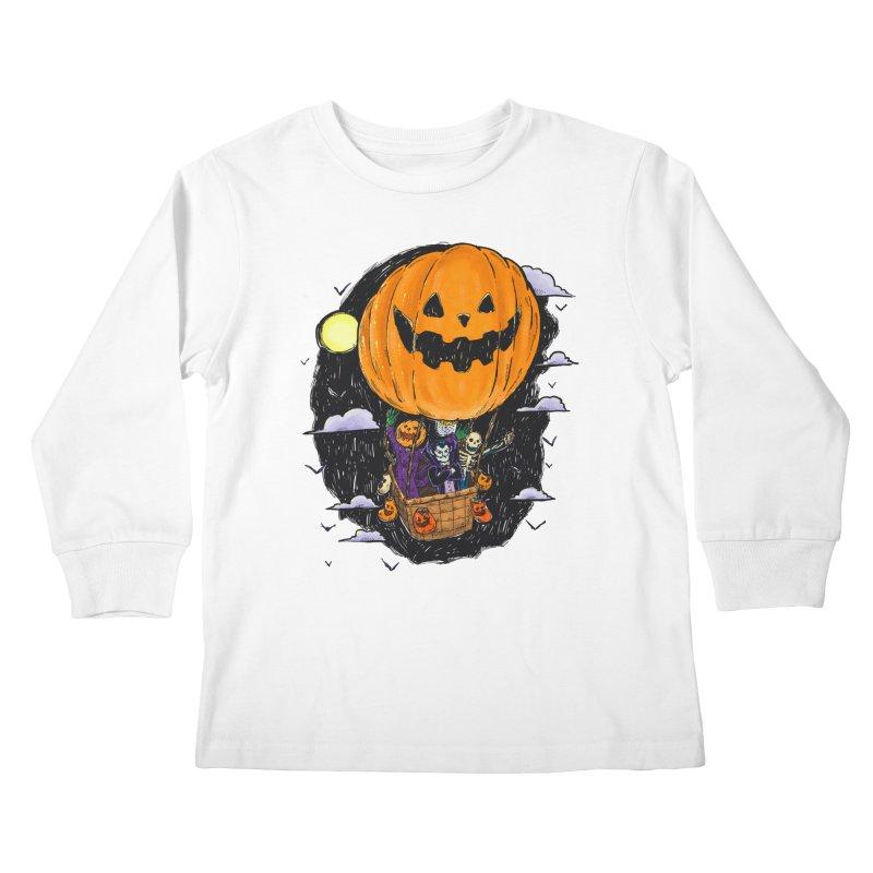 Pumpkin Hot Air Balloon Kids Longsleeve T-Shirt by nickv47