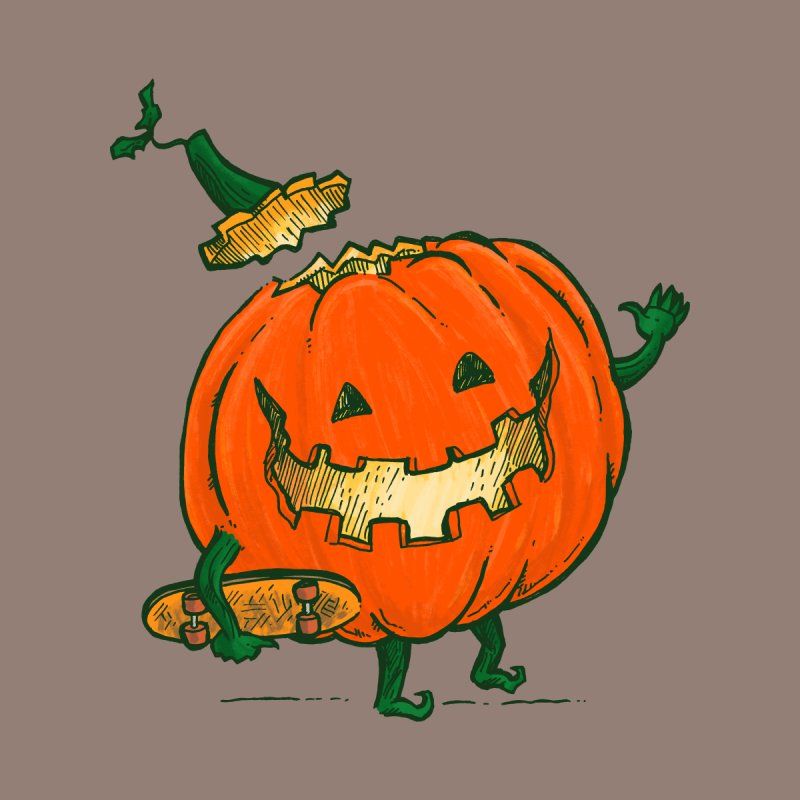 Skatedeck Pumpkin Kids T-Shirt by nickv47