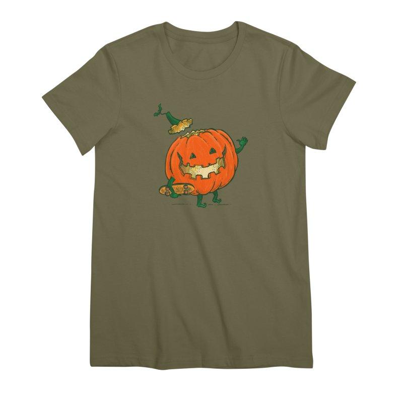 Skatedeck Pumpkin Women's Premium T-Shirt by nickv47