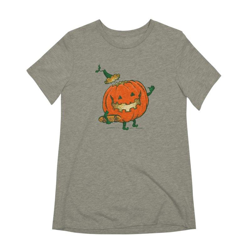 Skatedeck Pumpkin Women's Extra Soft T-Shirt by nickv47