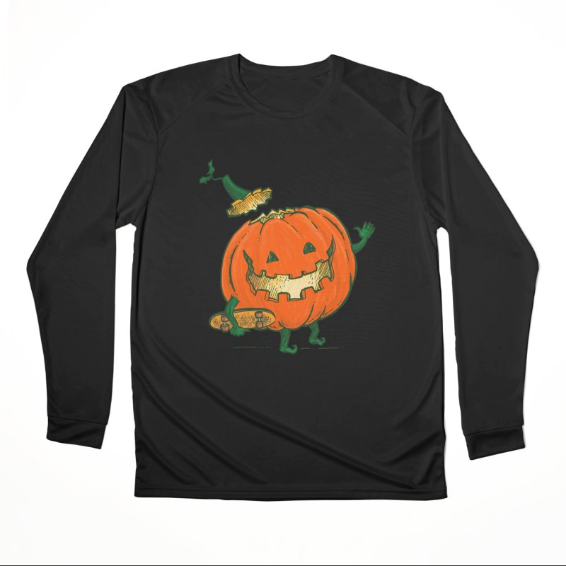 Skatedeck Pumpkin Women's Performance Unisex Longsleeve T-Shirt by nickv47