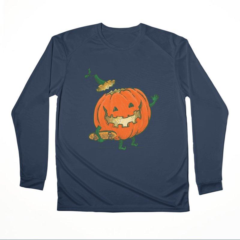 Skatedeck Pumpkin Women's Performance Unisex Longsleeve T-Shirt by nickv47