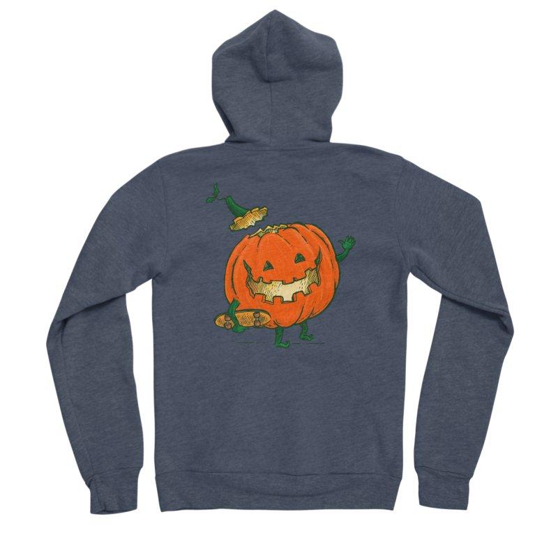 Skatedeck Pumpkin Men's Sponge Fleece Zip-Up Hoody by nickv47
