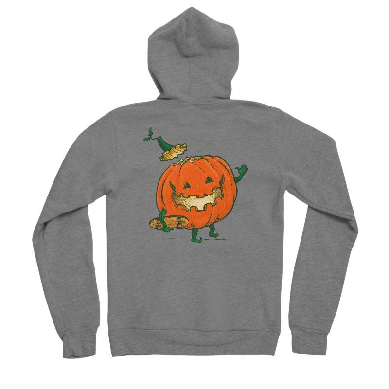 Skatedeck Pumpkin Women's Sponge Fleece Zip-Up Hoody by nickv47