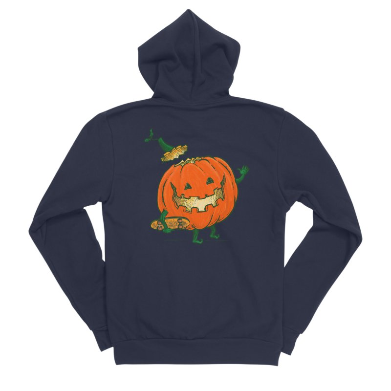 Skatedeck Pumpkin Women's Sponge Fleece Zip-Up Hoody by nickv47