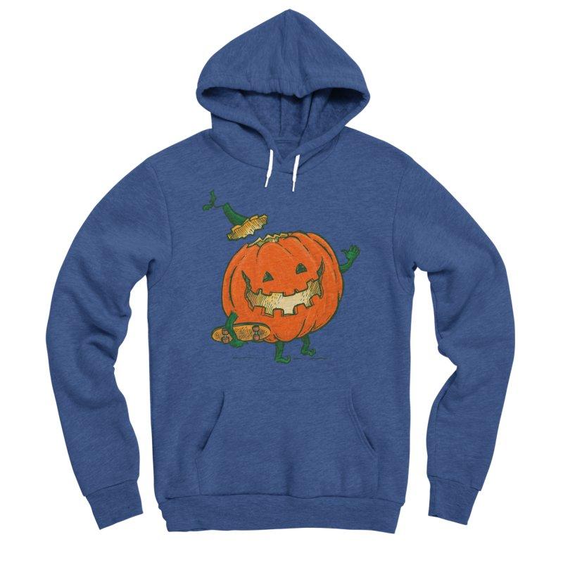 Skatedeck Pumpkin Men's Sponge Fleece Pullover Hoody by nickv47