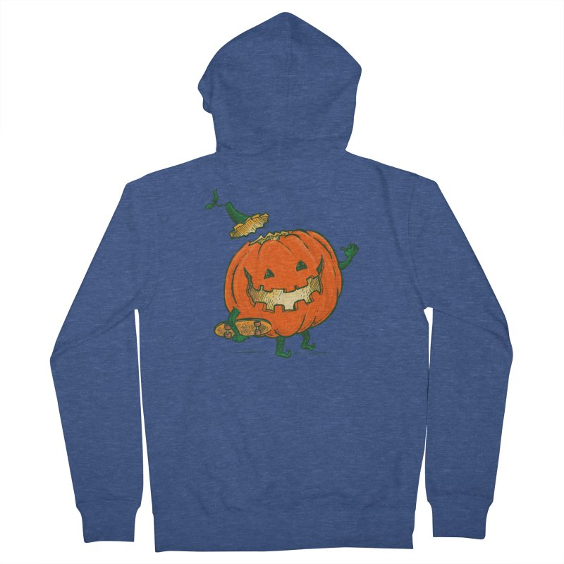 Skatedeck Pumpkin Men's French Terry Zip-Up Hoody by nickv47