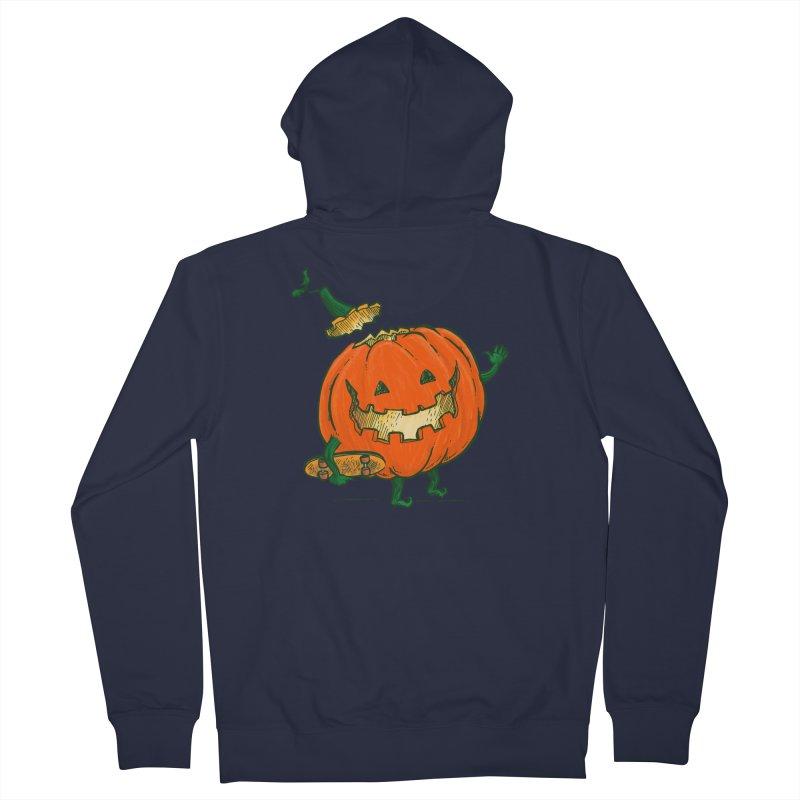 Skatedeck Pumpkin Men's French Terry Zip-Up Hoody by nickv47