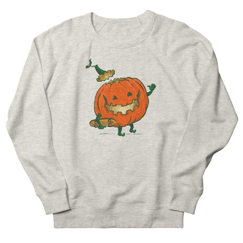 Skatedeck Pumpkin Women's French Terry Sweatshirt by nickv47