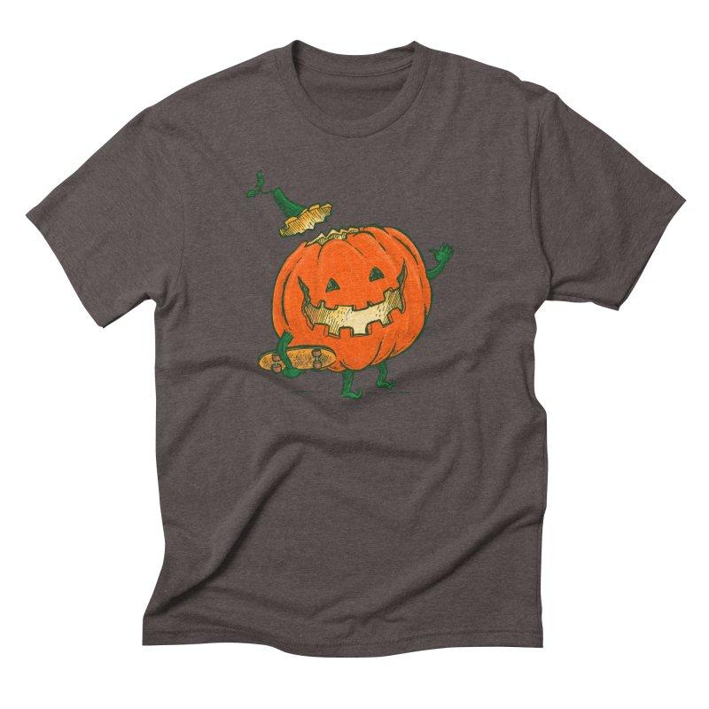 Skatedeck Pumpkin Men's Triblend T-Shirt by nickv47
