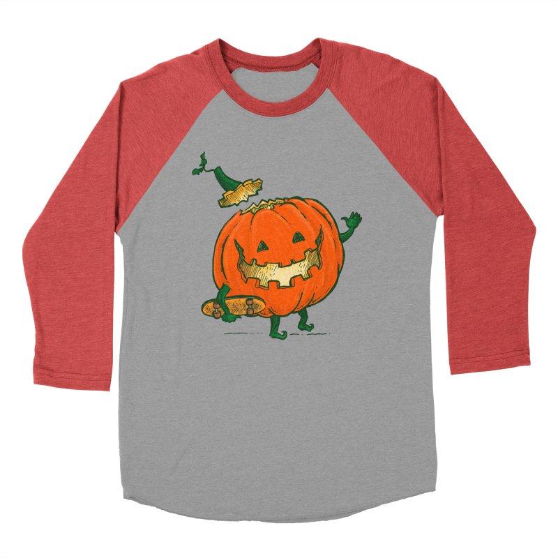 Skatedeck Pumpkin Women's Baseball Triblend Longsleeve T-Shirt by nickv47