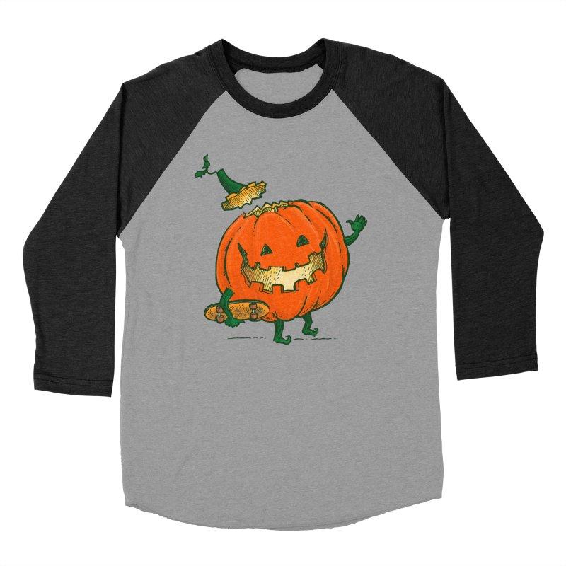 Skatedeck Pumpkin Men's Baseball Triblend Longsleeve T-Shirt by nickv47