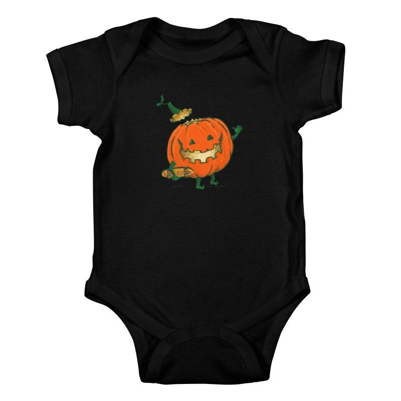 Skatedeck Pumpkin Kids Baby Bodysuit by nickv47