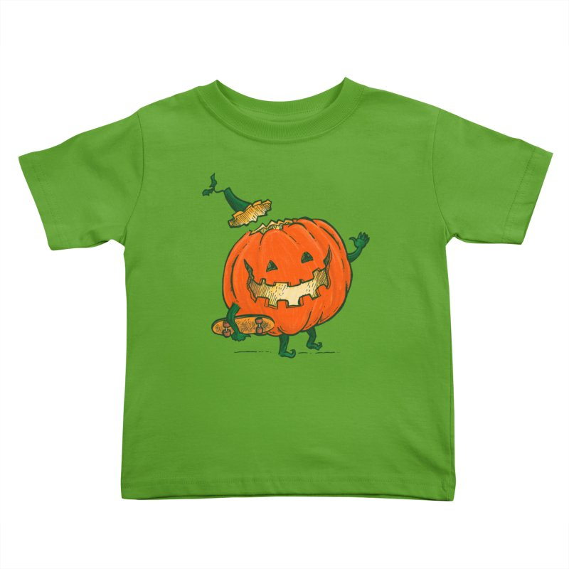 Skatedeck Pumpkin Kids Toddler T-Shirt by nickv47