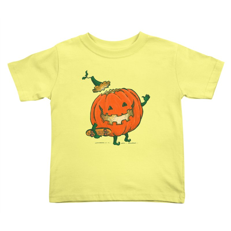 Skatedeck Pumpkin Kids Toddler T-Shirt by nickv47