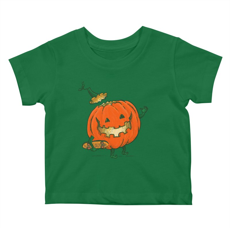 Skatedeck Pumpkin Kids Baby T-Shirt by nickv47