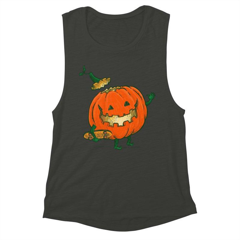 Skatedeck Pumpkin Women's Muscle Tank by nickv47