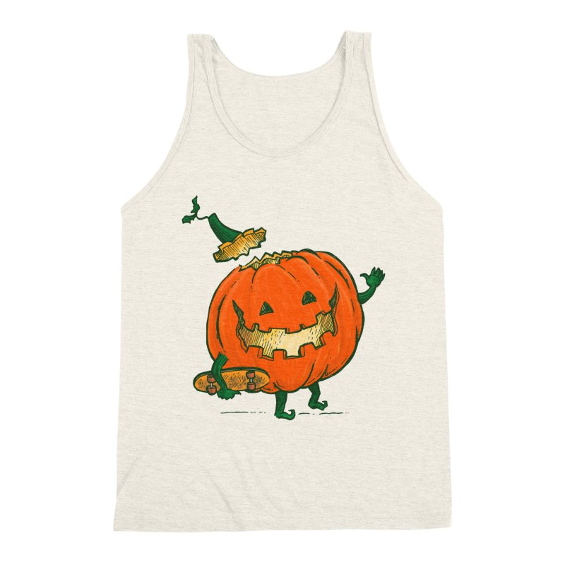 Skatedeck Pumpkin Men's Triblend Tank by nickv47