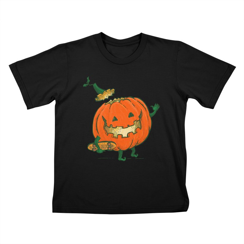 Skatedeck Pumpkin Kids T-Shirt by nickv47
