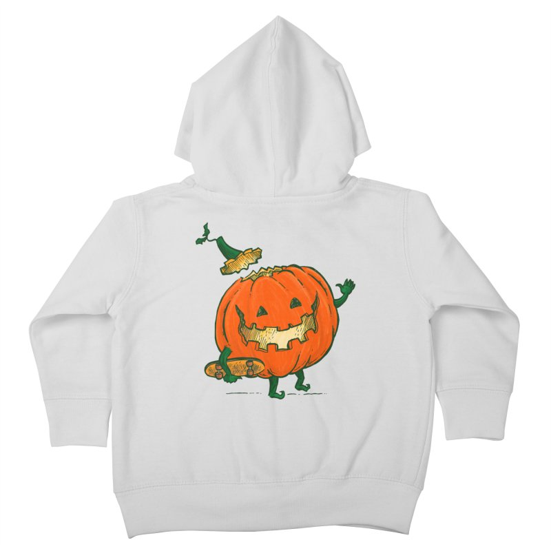 Skatedeck Pumpkin Kids Toddler Zip-Up Hoody by nickv47