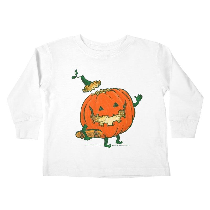 Skatedeck Pumpkin Kids Toddler Longsleeve T-Shirt by nickv47