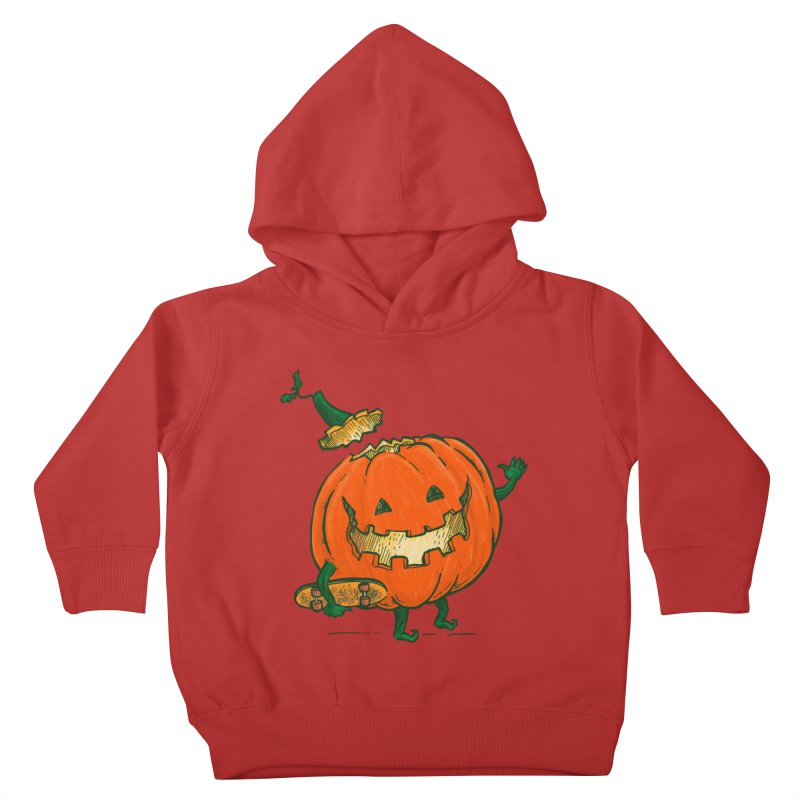 Skatedeck Pumpkin Kids Toddler Pullover Hoody by nickv47