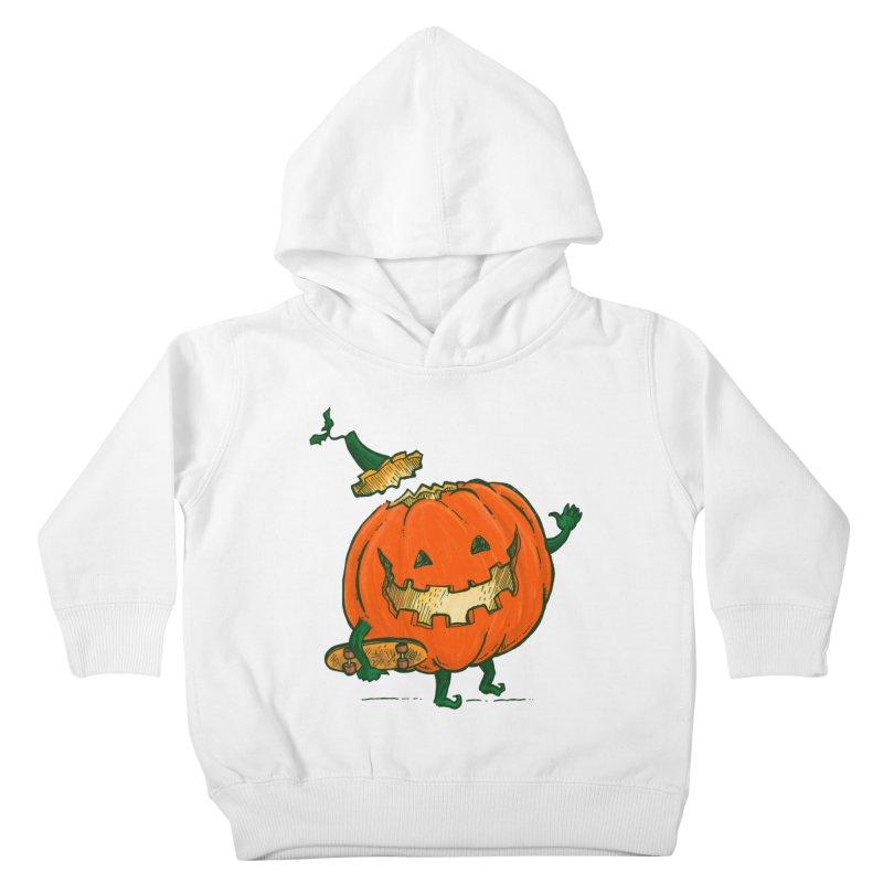 Skatedeck Pumpkin Kids Toddler Pullover Hoody by nickv47