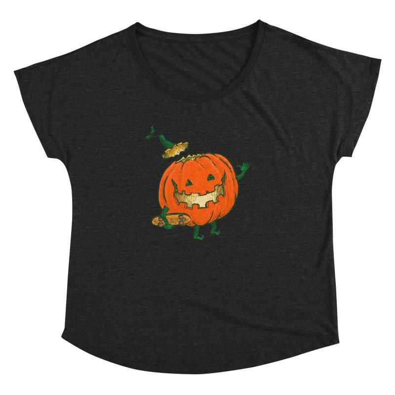 Skatedeck Pumpkin Women's Dolman Scoop Neck by nickv47