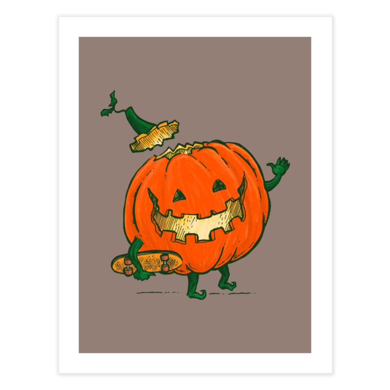 Skatedeck Pumpkin Home Fine Art Print by nickv47
