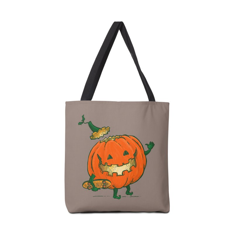 Skatedeck Pumpkin Accessories Tote Bag Bag by nickv47