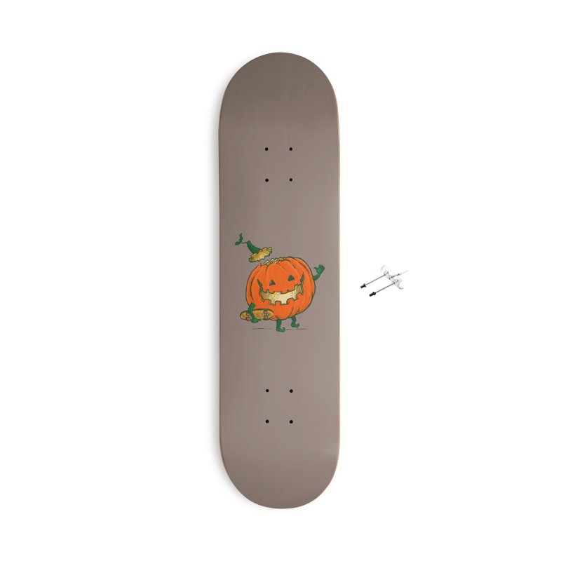 Skatedeck Pumpkin Accessories With Hanging Hardware Skateboard by nickv47