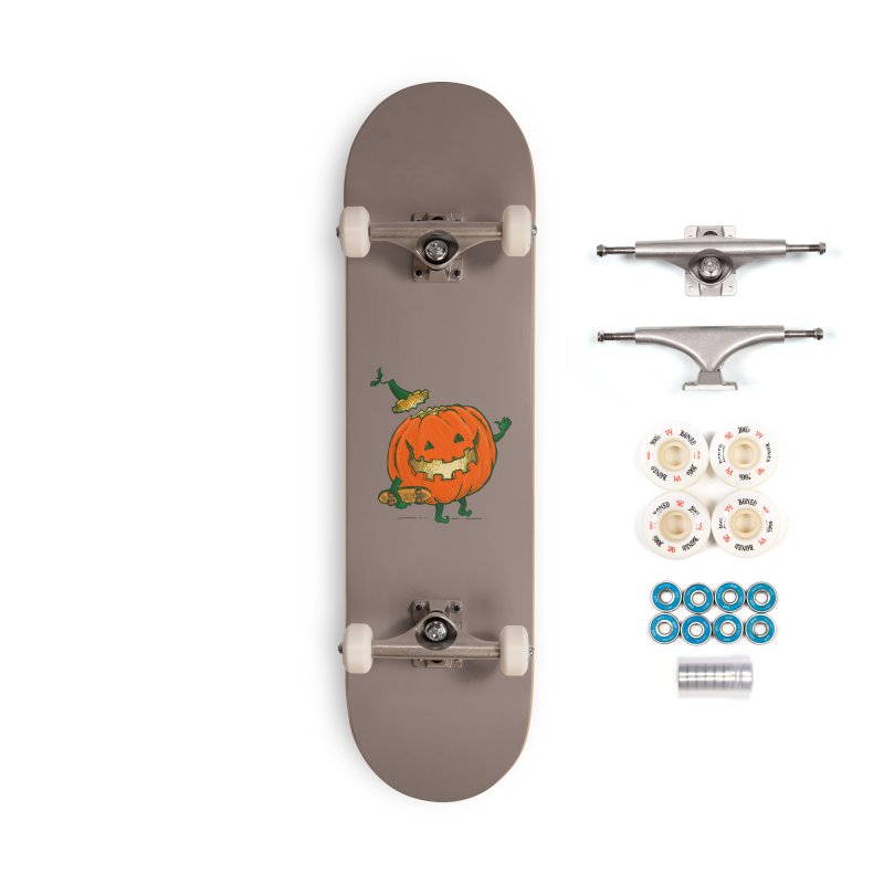 Skatedeck Pumpkin Accessories Complete - Premium Skateboard by nickv47