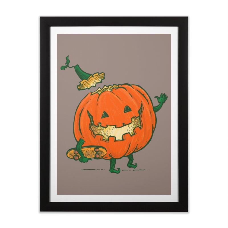 Skatedeck Pumpkin Home Framed Fine Art Print by nickv47