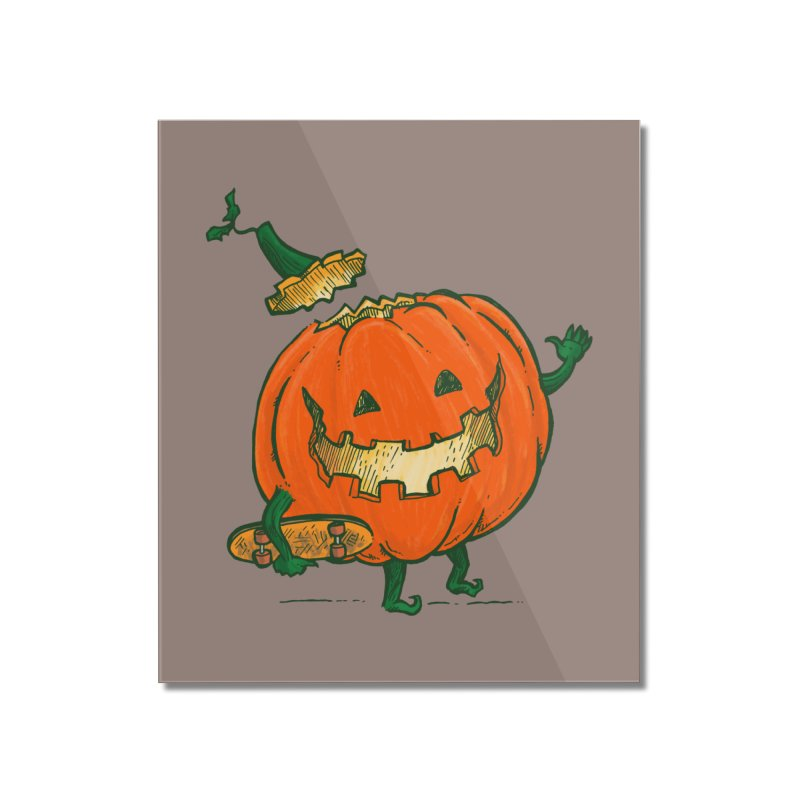 Skatedeck Pumpkin Home Mounted Acrylic Print by nickv47