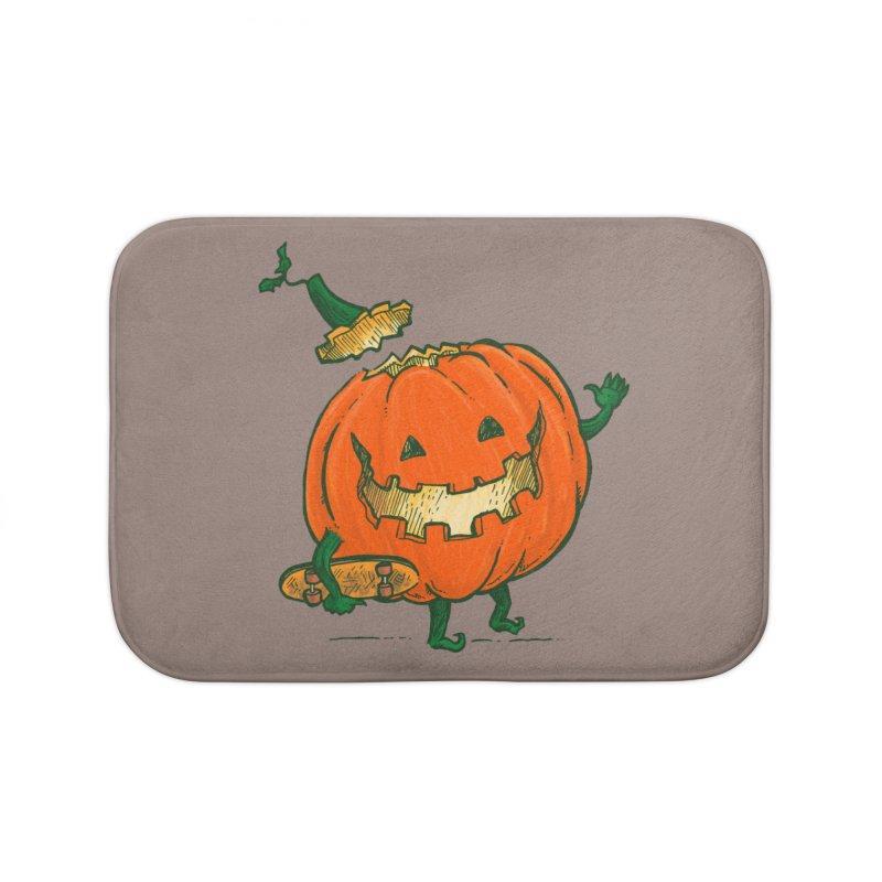 Skatedeck Pumpkin Home Bath Mat by nickv47