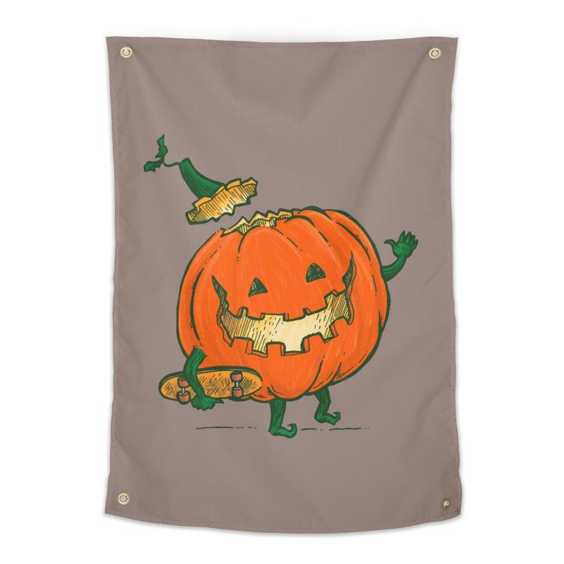 Skatedeck Pumpkin Home Tapestry by nickv47