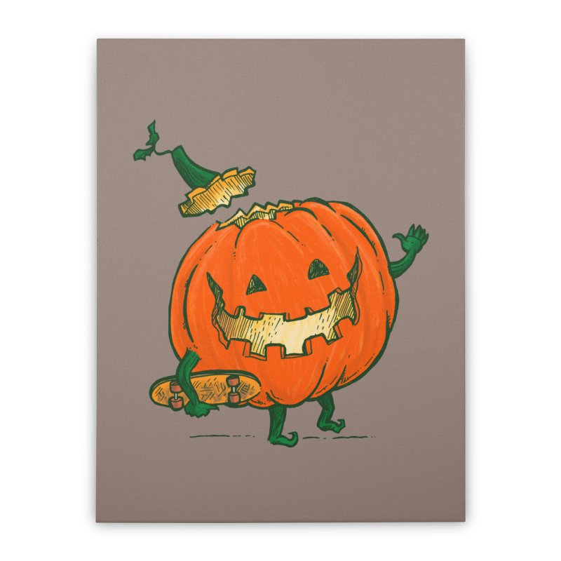 Skatedeck Pumpkin Home Stretched Canvas by nickv47