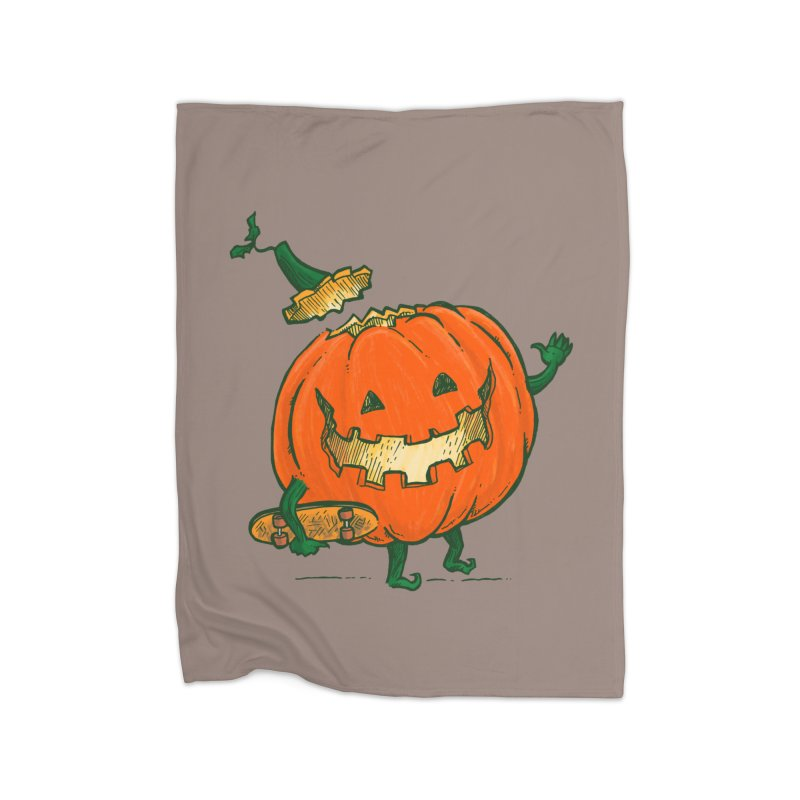 Skatedeck Pumpkin Home Fleece Blanket Blanket by nickv47