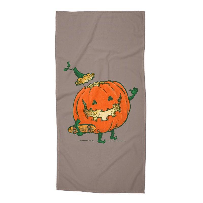 Skatedeck Pumpkin Accessories Beach Towel by nickv47