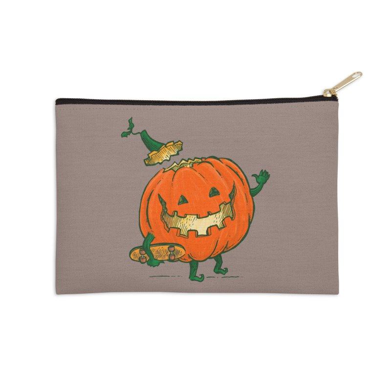 Skatedeck Pumpkin Accessories Zip Pouch by nickv47