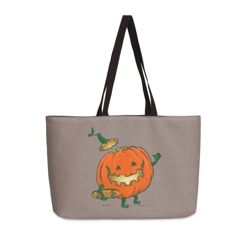Skatedeck Pumpkin Accessories Weekender Bag Bag by nickv47