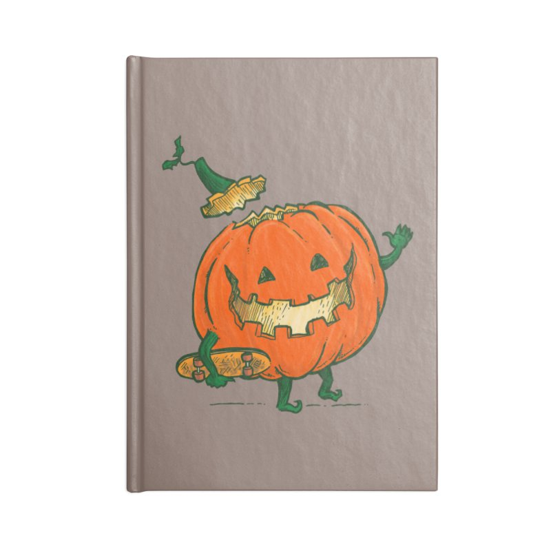 Skatedeck Pumpkin Accessories Blank Journal Notebook by nickv47