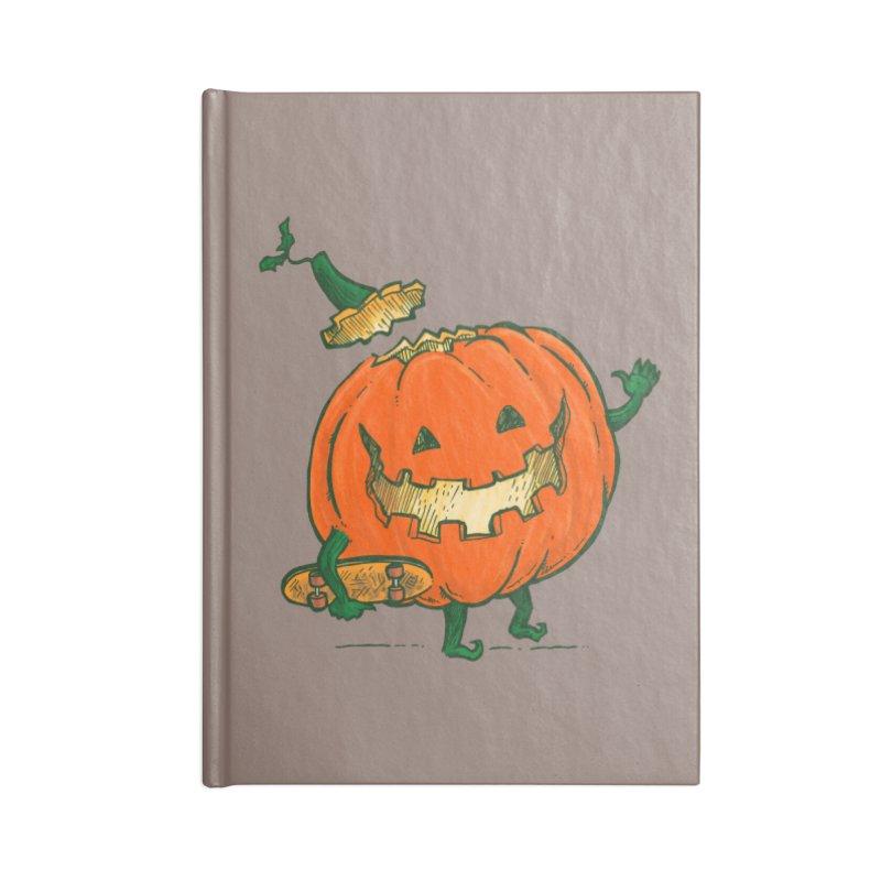 Skatedeck Pumpkin Accessories Lined Journal Notebook by nickv47