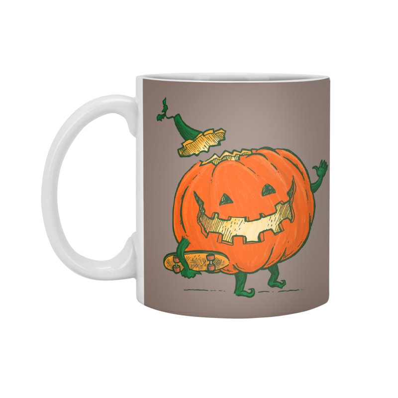 Skatedeck Pumpkin Accessories Standard Mug by nickv47